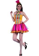 Disfraz Payasa Pajarita Mujer Talla XL