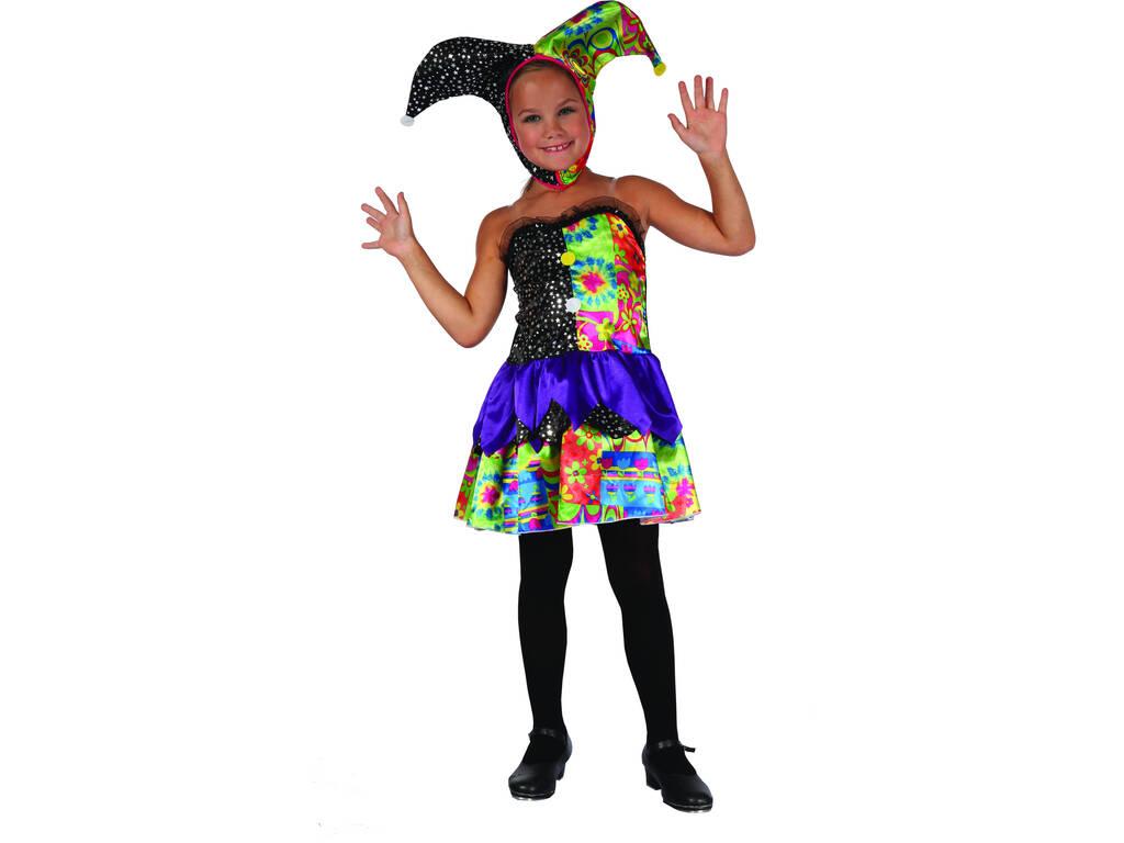 Disfraz Payasa Bufona Colores Niña Talla S