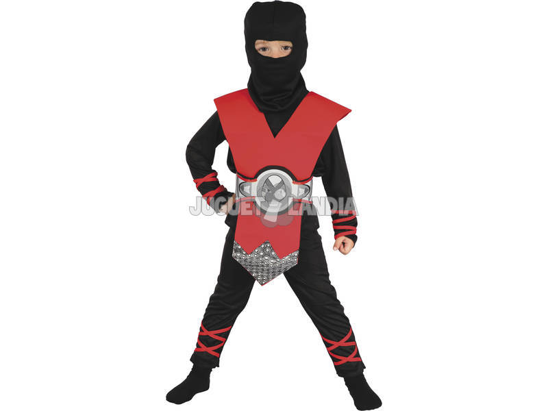 Fantasia Ninja Bebé Vermelho Tamanho S