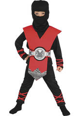 Costume Ninja Rosso Bimbo M