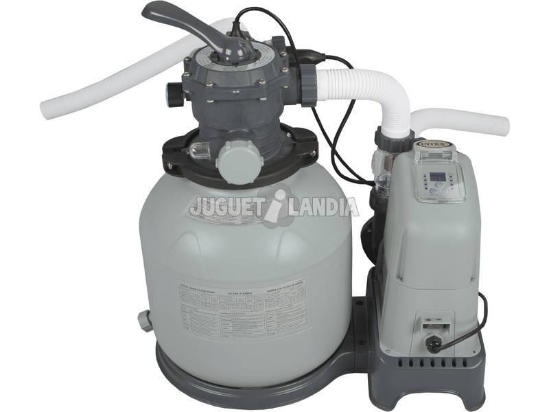 Pompa filtro a sabbia 6.000 l/h + Clorinatore Salino E.C.O Intex 28676