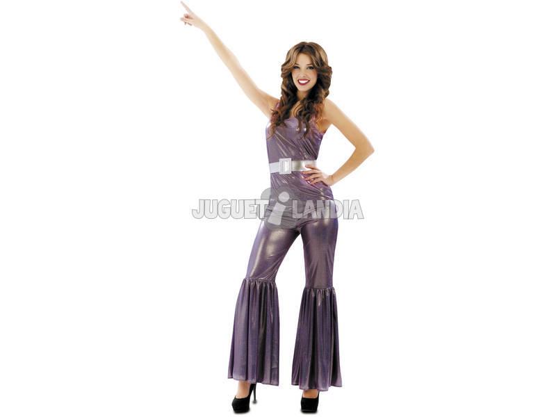 Fantasia Mulher S Disco Lilás