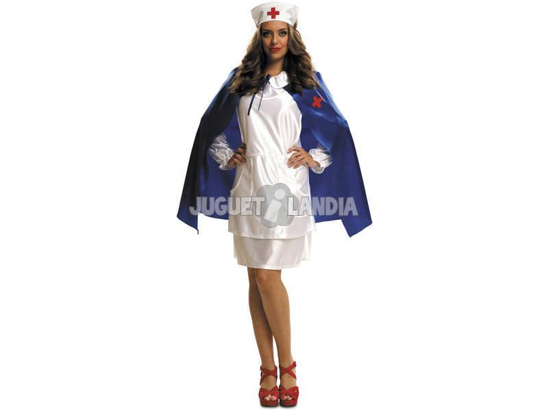 Disfraz Mujer XL Enfermera con Capa Azul