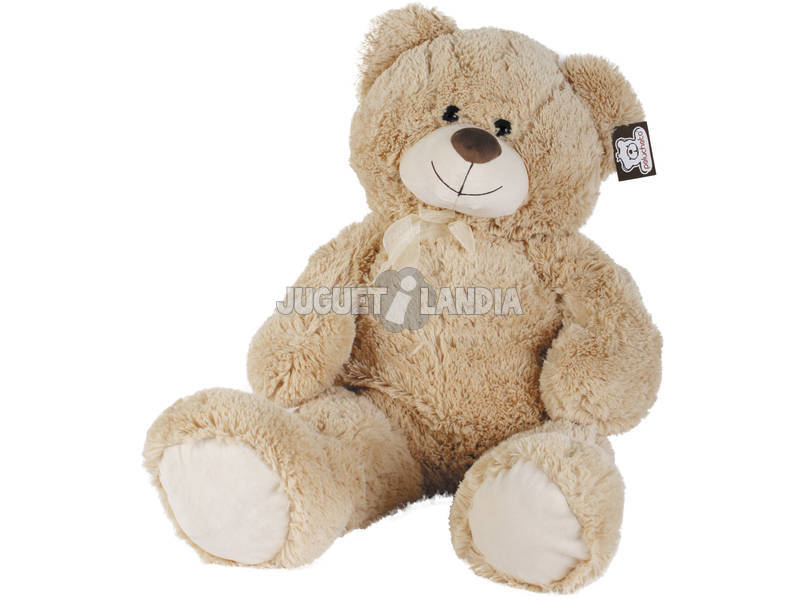 Peluche Ours Assis 86cm. Beige
