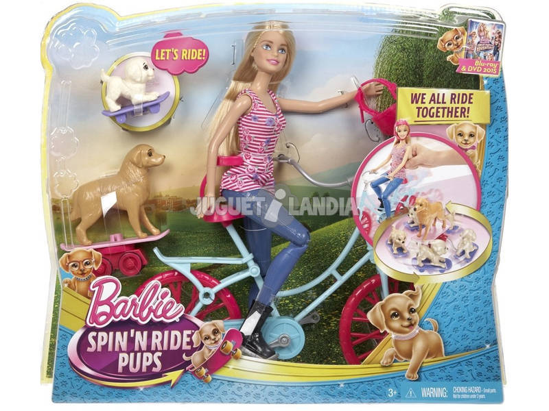 Barbie Bici y Perritos