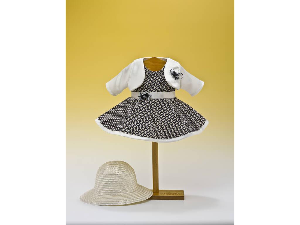Vestido Rombos Marino con Sombrero