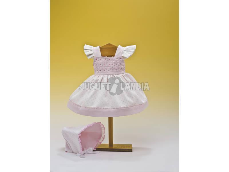 Vestido Branco Detalhes Rosa Capota
