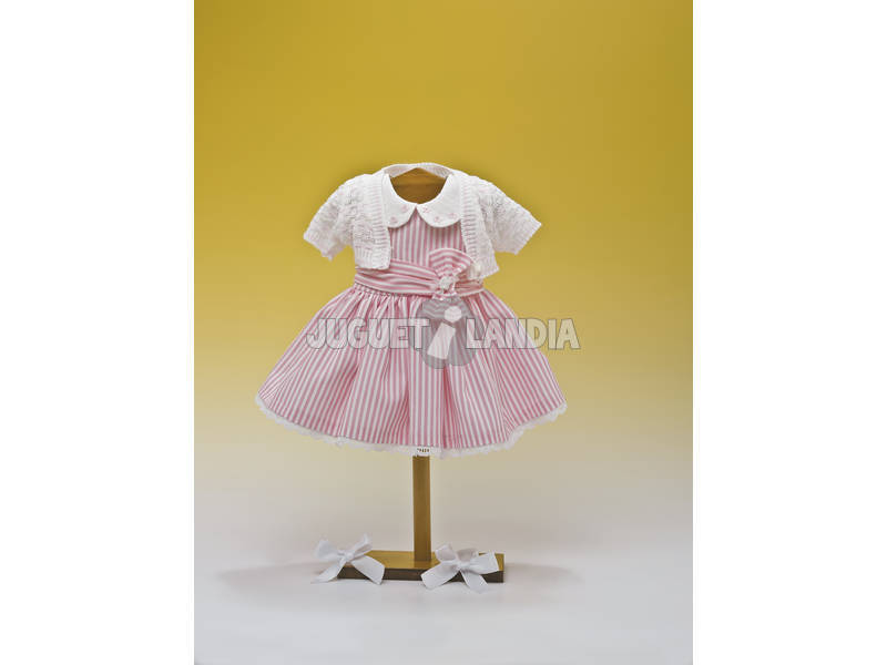 Vestido Listrado Rosa e Branco Jaqueta