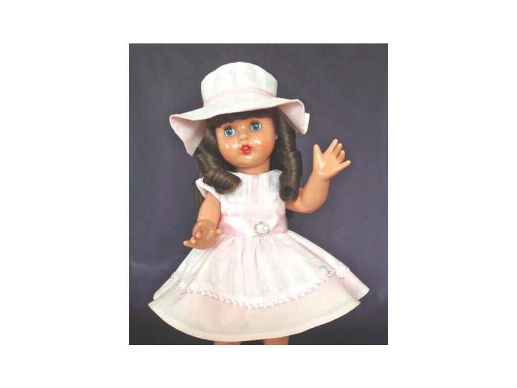 Vestido Rosa com Chapéu