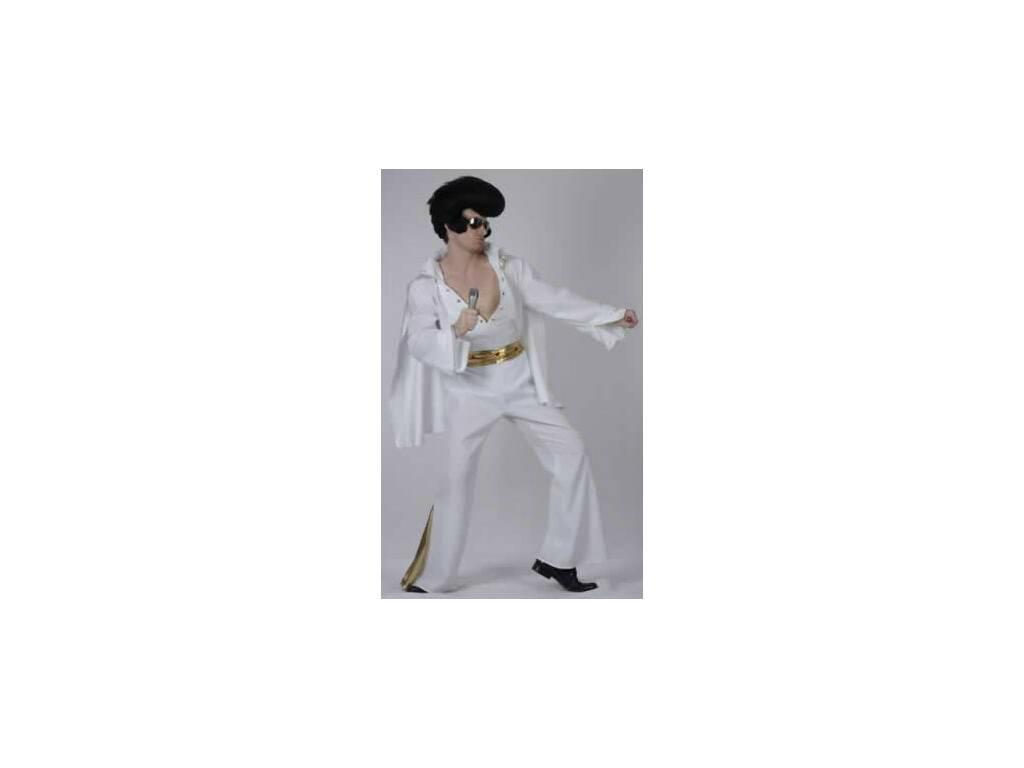 Disfraz Estrella del Rock Blanco Hombre Talla XL