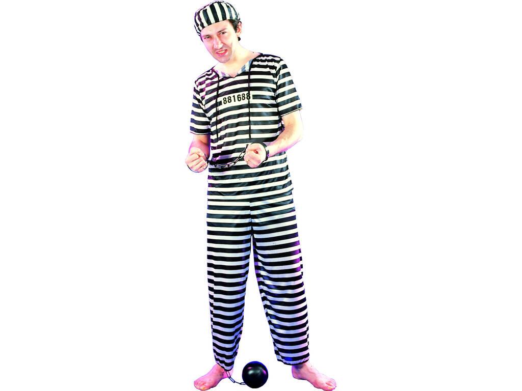 Déguisement Prisonnier pour Homme Taille XL