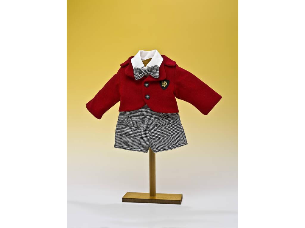 Conjunto Pantalón Cuadros Negro y Chaqueta Roja