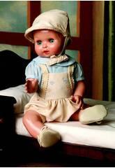 Juanin Pérez Baby Trägerrock Beige Kapuze und Hemd Cele