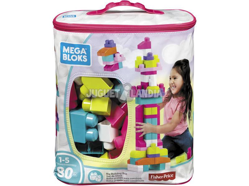 Mega Bloks Saco Rosa 80 Peças Mattel DCH62