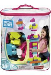 Mega Bloks Bolsa Rosa 80 Piezas Mattel DCH62