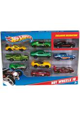 Hot Wheels Pack 10 Vehículos de Juguete