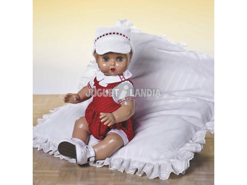 Juanin Pérez Bebé Conj Pichi Rojo y Gorra Punto