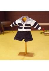 imagen Conjunto Pantalón Marino y Camisa Rayas