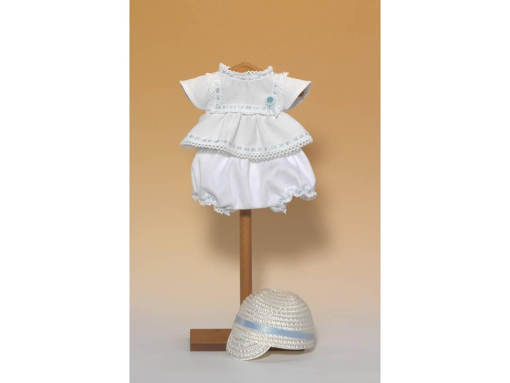 Conjunto Branco e Azul com Boné