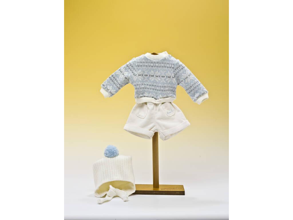 Conjunto Calças Tecido Jérsei e Gorro Lã