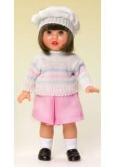 Mini Mariquita Pérez ensemble Jupe Rose et pull en tricot.