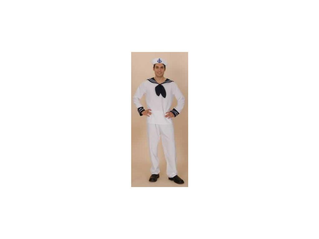 Fantasia Marinheiro Branca Homem Tamanho XL