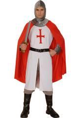Maschera Cavaliere Bianco Crociato Uomo Taglia XL