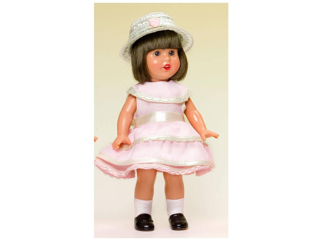 Mini Mariquita Pérez Vestido Rosa con Sombrero