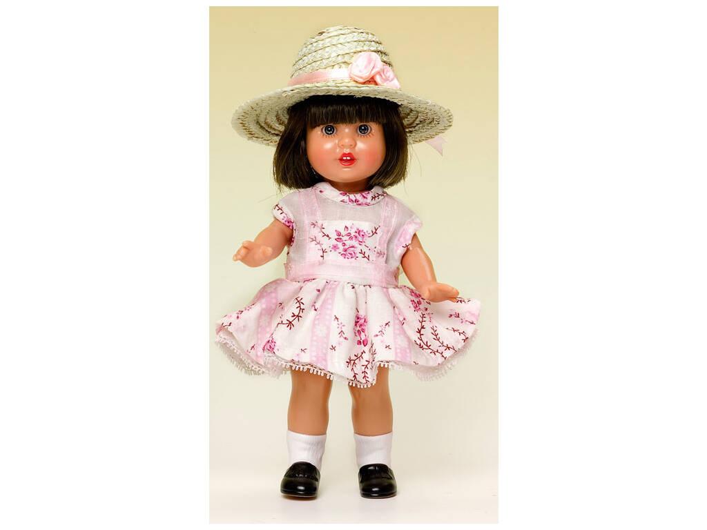 Mini Mariquita Pérez Vestido Cenefa Granate y Viol