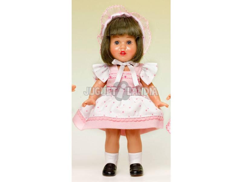 Mini Mariquita Pérez Vestido Blanco Topos Rosas