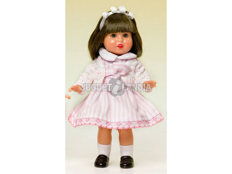 Mini Mariquita Pérez Vestito Righe Rosa e Bianche