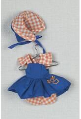 imagen Mini Vestido Azul Capota