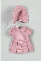 imagen Mini Vestido Rayas Blanco y Rojo