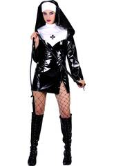 Disfraz Monja Falda Corta Sexy Mujer Talla XL