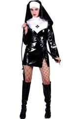 Maschera Suora Gonna Corta Sexy Donna Taglia XL