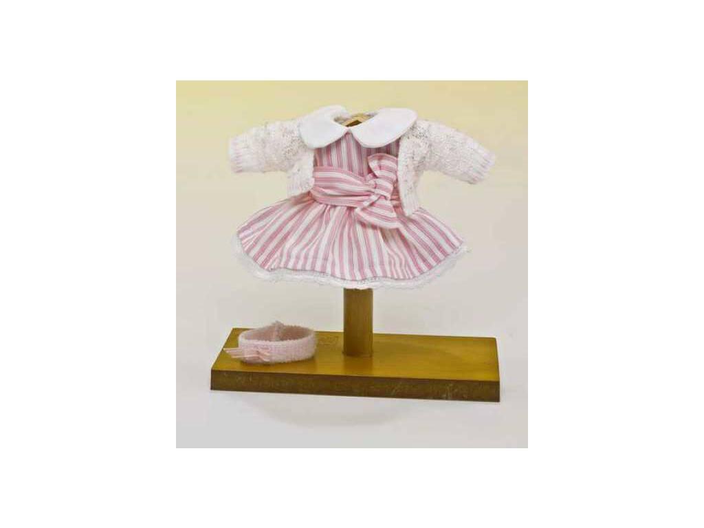Mini Vestido Listrado Rosa e Branco