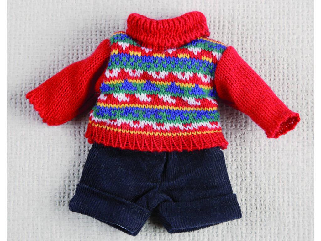 Mini Calças Curtas Marinho e Jérsei Vermelho