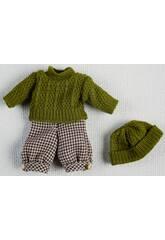 Mini ensemble Pull et Bonnet Vert