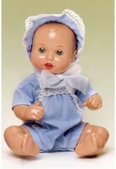 Mini Juanin Baby Mütze Organdi Blau.