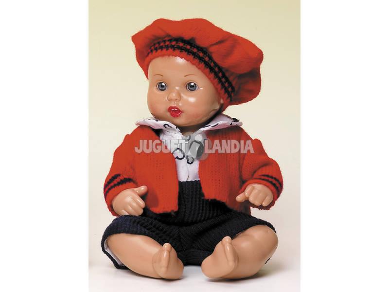 Mini Juanin Bebé Conj Calças Marinho e Jaqueta Vermelha