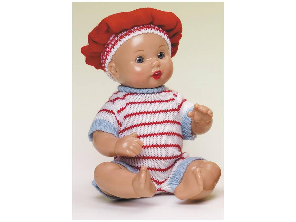 Mini Juanin Bebé Tutina di punto righe rosse