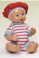 Mini Juanin Bébé Barboteuse Tricot Rayures rouges