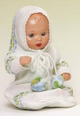 Mini Juanin Baby, Strickjacke und Puppe