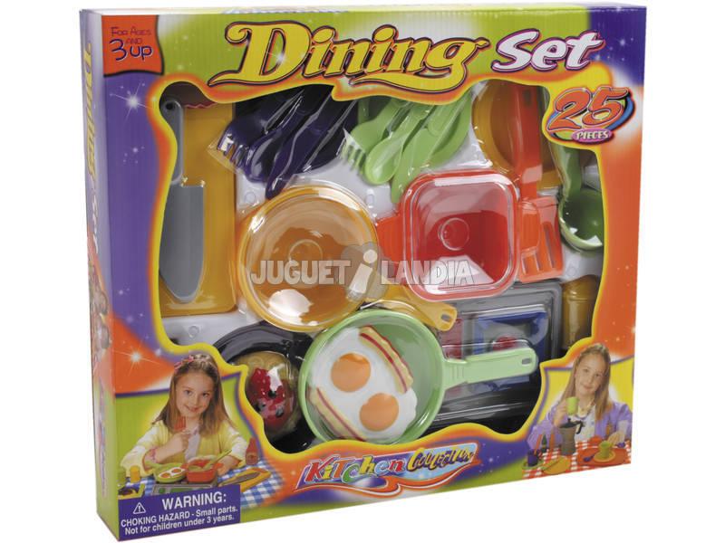 Set de Cocina de Juguete con 25 piezas