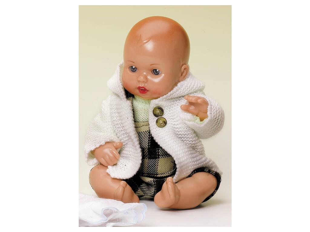 Mini Juanin Bebé Peto Cuadros Marrón y Abrigo Punt
