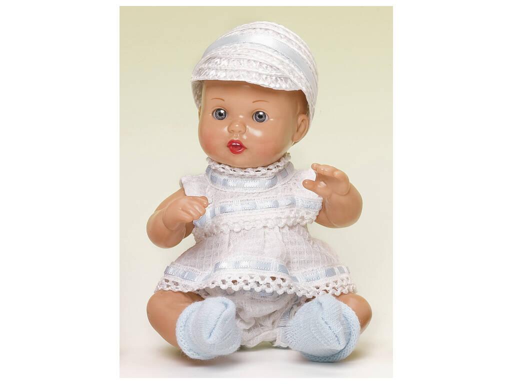 Mini Juanin Bebè Completino Bianco e Celeste con cappellino