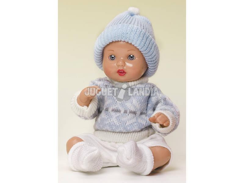 Mini Juanin Bebé Pantalón Beige Jersey y Gorr Azul