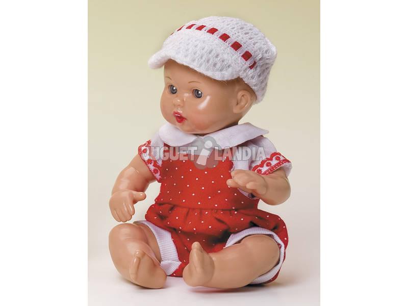 Mini Juanin Bebé Fato Vermelho e Boné Ponto Branco