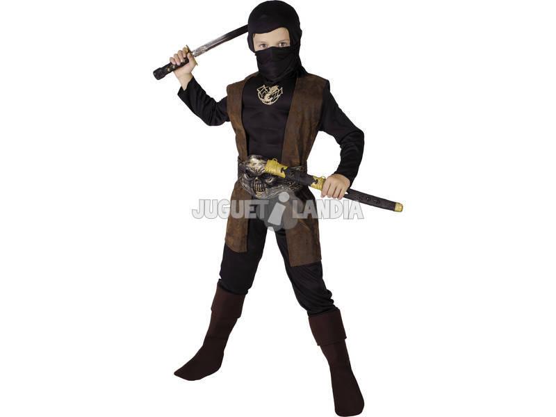 Déguisement de ninja tête de mort pour garçon taille S
