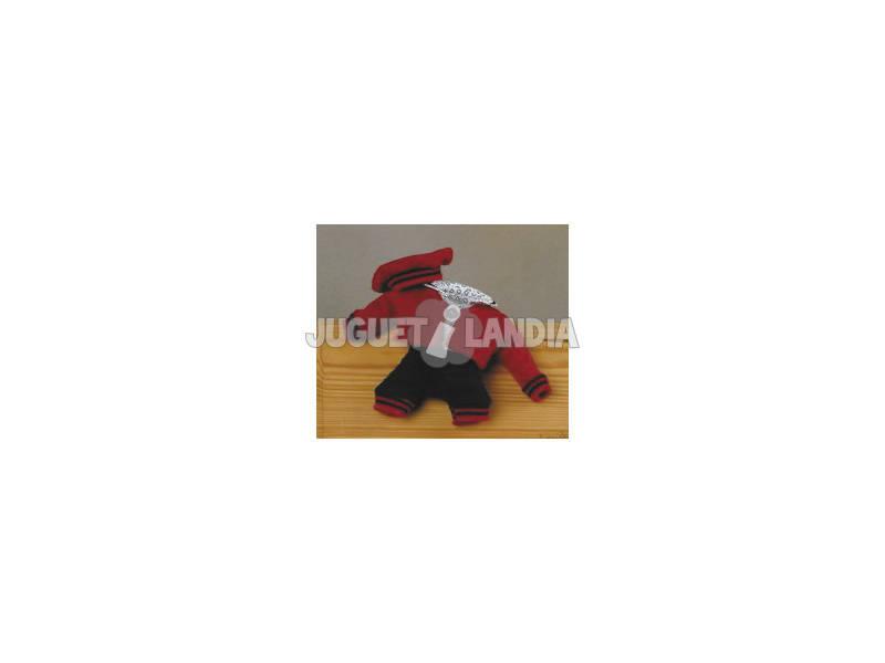 Mini Conjunto Ponto Calças Azul Marinho e Jaqueta Vermelha